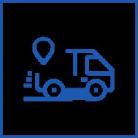 Acompanhamento da encomenda em todas as fases dentro do trajeto, com uso de plataforma ERP indicando origem, destino e confirmação de entrega.
